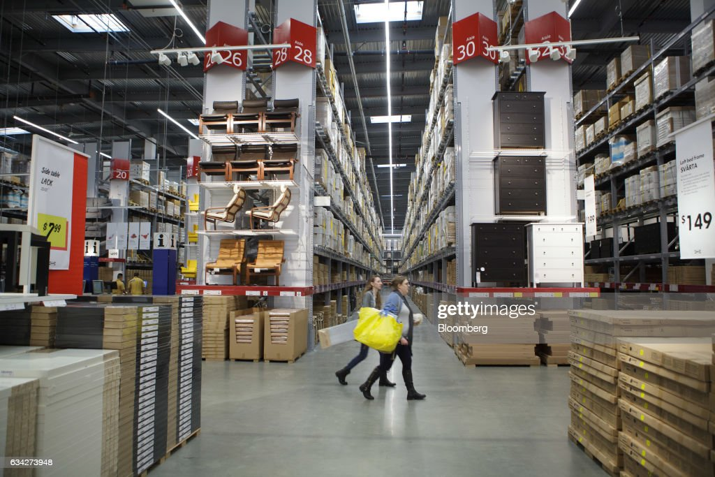 Shoppers Walk Past Furniture Displayed For Sale At The New IKEA Sweden AB  Store During The
