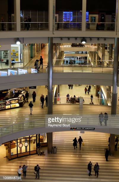 Shoppers walk through and shop at Mall Of America in Bloomington Minnesota on October 14 2018