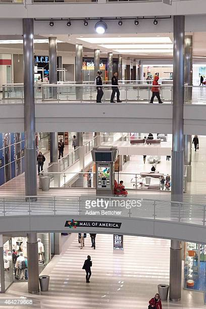 Shoppers walk through Mall of America during a media tour of its security systems on February 23 2015 in Bloomington Minnesota In a newly released...
