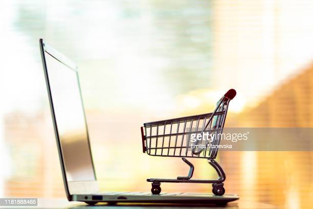 shopping and delivery concept - basket stock pictures, royalty-free photos & images