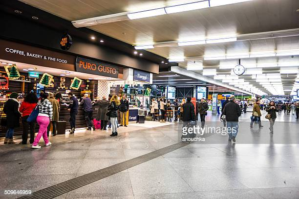 Shopping and food court at Madrid Atocha Train Station