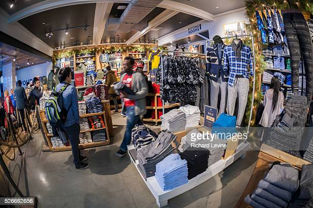 Shopping at American Eagle Outfitters in the Herald Square shopping district in New York on Thursday November 26 2015 American Eagle Outfitters...