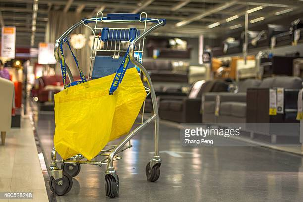 A shopping bag and cart in Beijing Inter Ikea shopping center Beijing Inter Ikea shopping center opens on mid December located near the South Fifth...