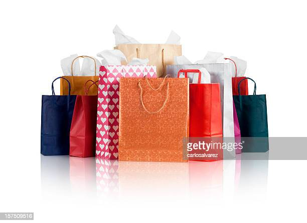 shopping bags w/clipping path - shopping bag stock pictures, royalty-free photos & images