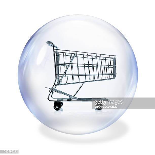 Shopping basket inside bubble