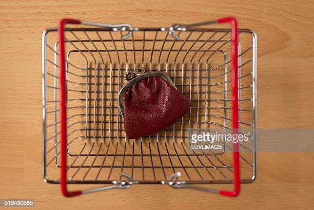 Shopping basket with small purse