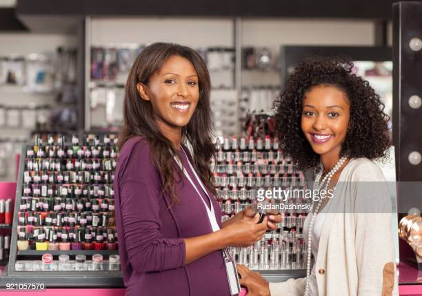 Shopping beauty cosmetics.