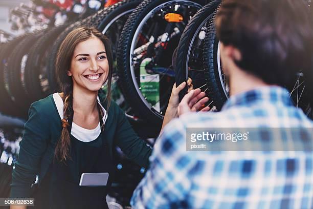 ショッピングのバイク