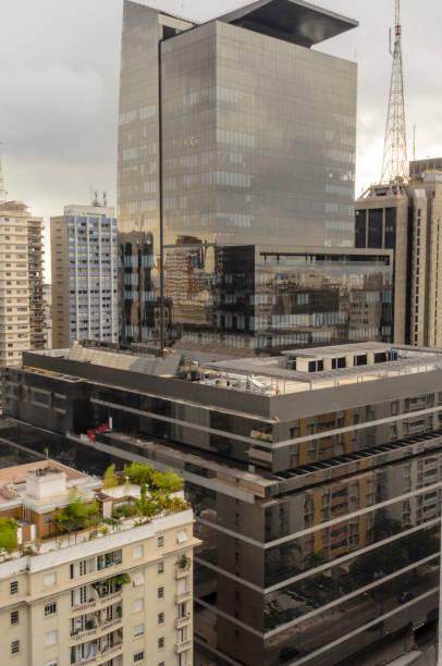 shopping building Cidade de São Paulo in São Paulo in Brazil vertical