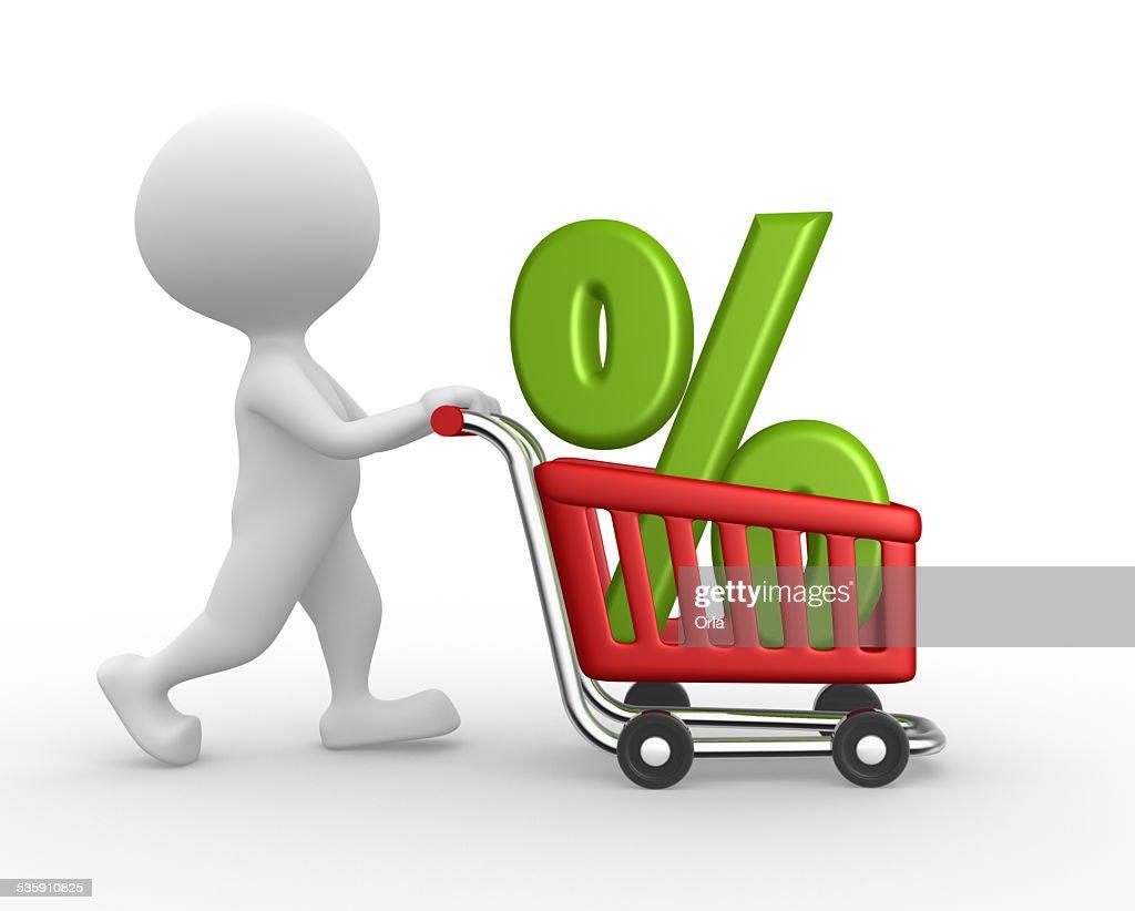 Coche de compras : Foto de stock