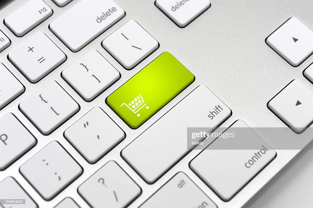 Shopping Cart Button-E-commerce Concept : Stock Photo