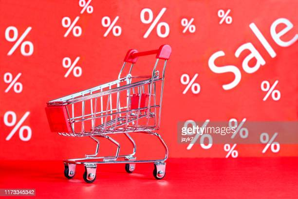 shopping cart - black friday stock photos and pictures