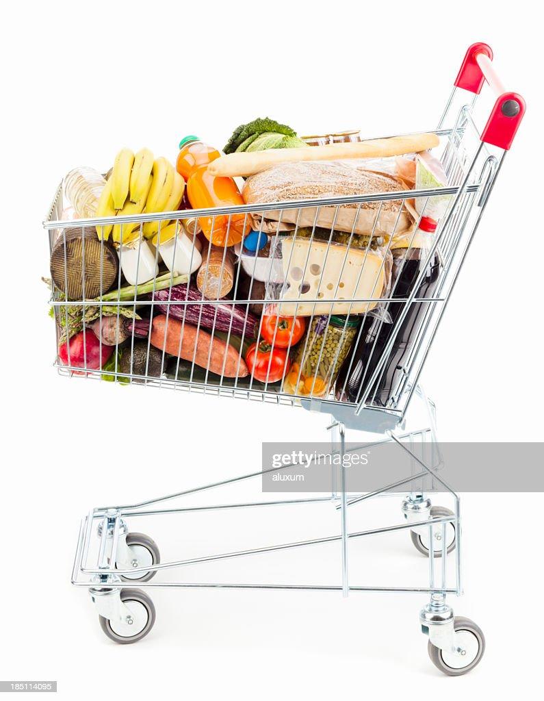 Shopping Einkaufswagen : Stock-Foto