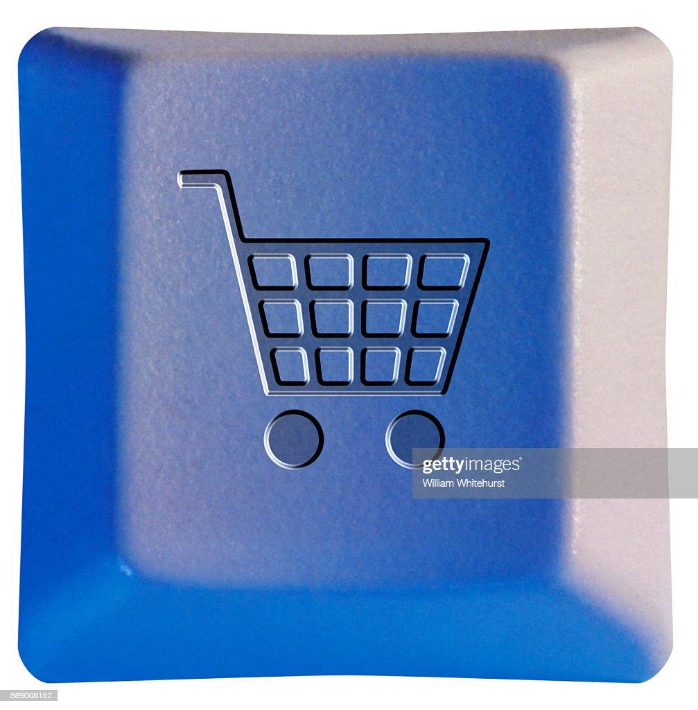 Shopping Cart Symbol On Keyboard Key Stock Photo Getty Images