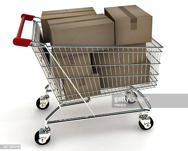 Einkaufswagen mit Boxen