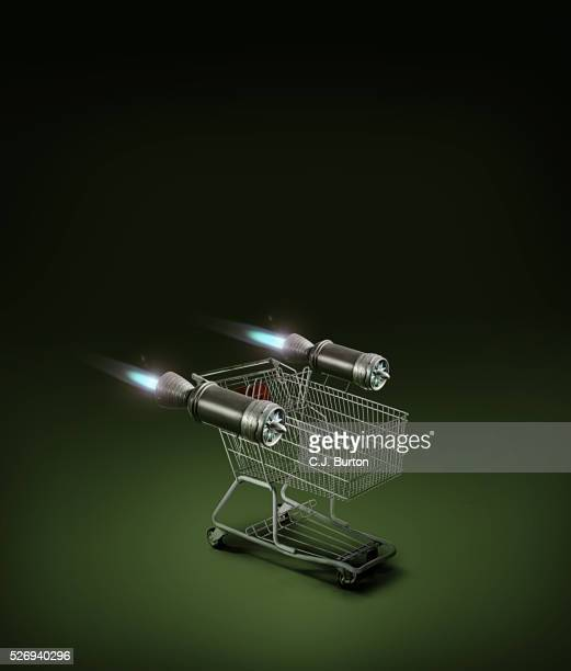 Shopping cart with jet engines