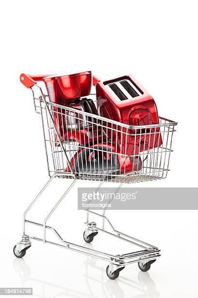 Shopping Cart with Kitchen Appliances