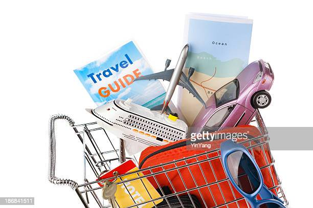 Shopping Cart with Vacation Package, Cruise, Car Rental, Flight, Hotel
