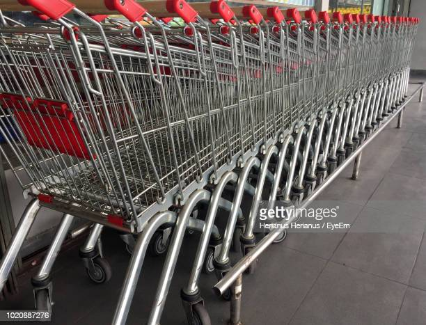 Shopping Carts On Footpath