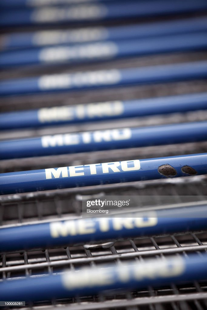 Shopping carts seen at a Metro AG supermarket in Shanghai, China, on Wednesday, May 19, 2010. Metro AG, Germany's largest retailer, plans to add 100 stores worldwide this year, the company said in a statement issued in Shanghai today. Photographer: Qilai Shen/Bloomberg via Getty Images