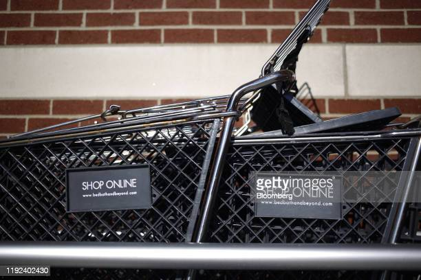 Shopping carts sit outside a Bed Bath & Beyond Inc. Store in Clarksville, Indiana, U.S., on Sunday, Jan. 5, 2020. Bed Bath & Beyond Inc. Is scheduled...