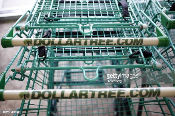 Shopping carts sit outside a Dollar Tree Inc store in Louisville Kentucky US on Friday Aug 24 2018 Dollar Tree Inc is scheduled to release earnings...