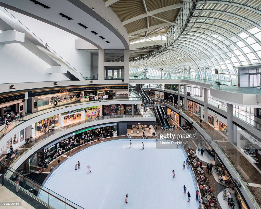 Shopping center inside Marina Bay Sands : Stock Photo
