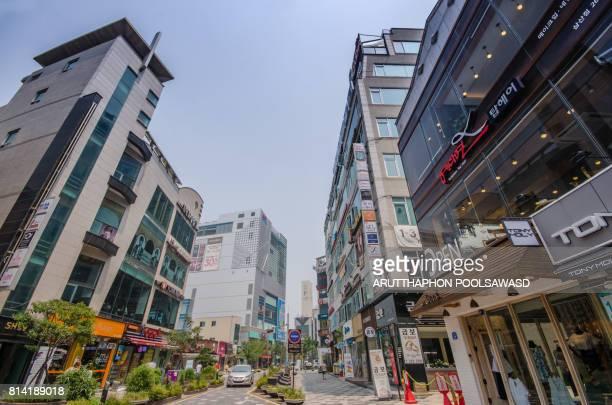 Shopping center of Busan , South korea