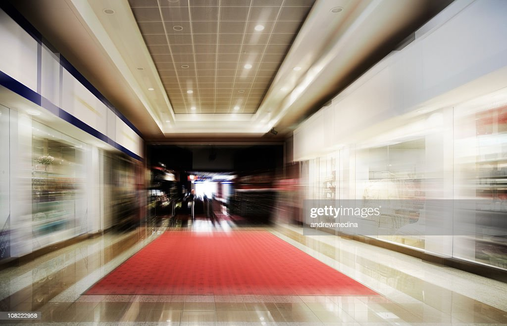 Shopping Centre-Motion Blurred-More in Lightboxes Below : Stockfoto