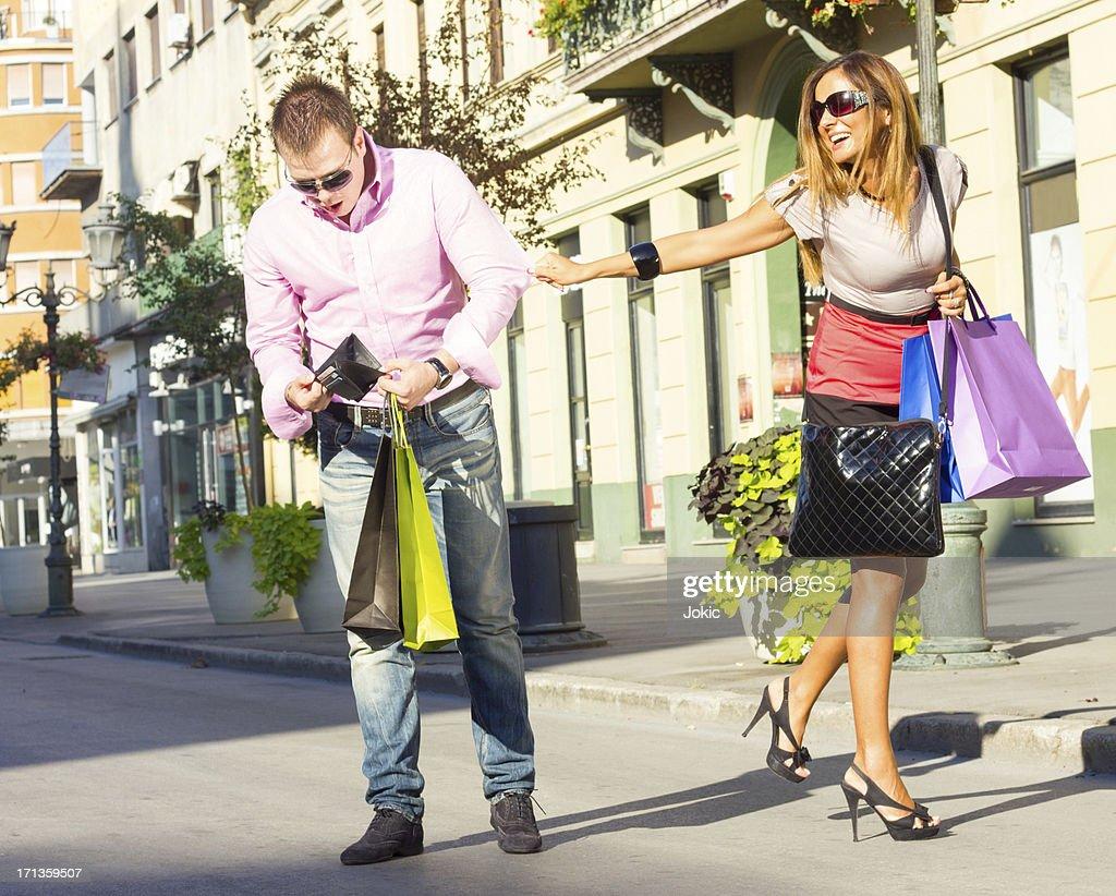 Shopping couple. : Stock Photo