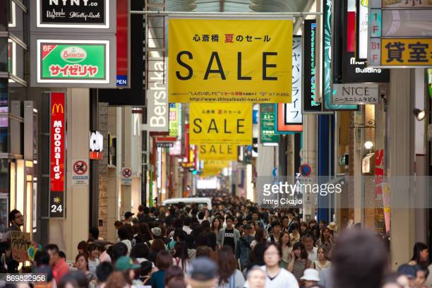 shopping day in osaka - black friday stock pictures, royalty-free photos & images
