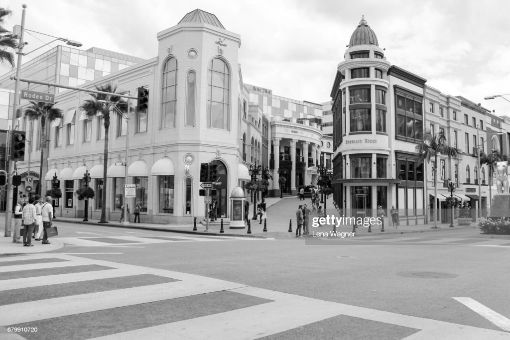 Shopping district in Beverly Hills : Foto de stock