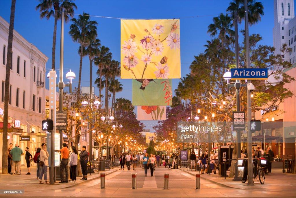 Quartier commerçant à Santa Monica en Californie USA : Photo