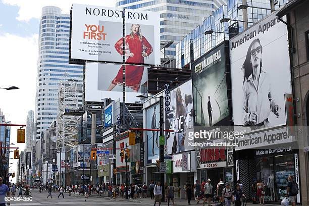Shopping District, Yonge Street, Toronto, Canada in Summer