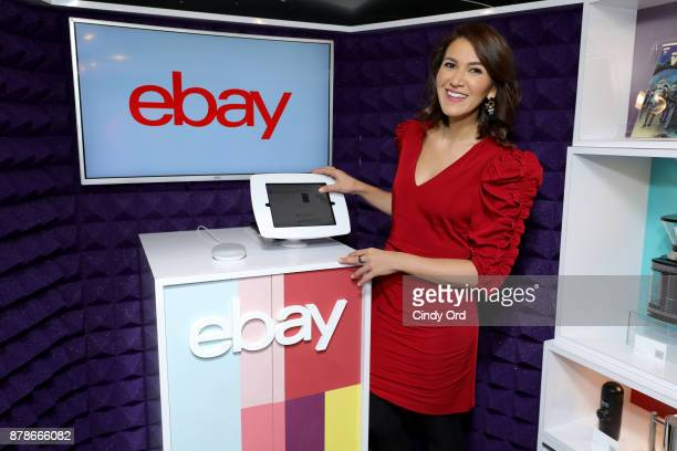 Shopping Expert Anna De Souza at the 'Did You Check eBay' Holiday Deals Airstream Tour in New York City at Greeley Square Park on November 24 2017 in...