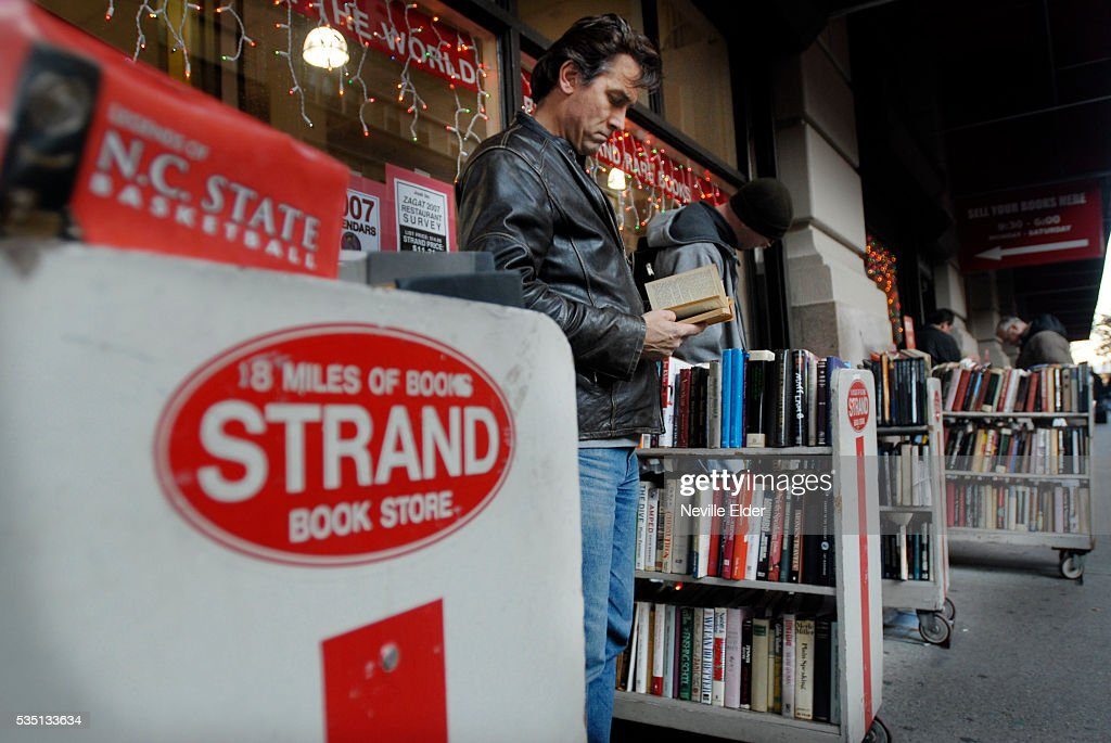 Shopping for books in New York City; Strand bookstore