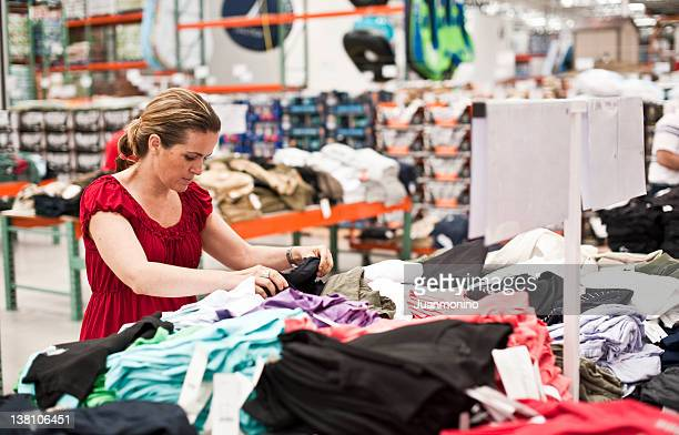 shopping for clothes stock photo - megastore stock photos and pictures