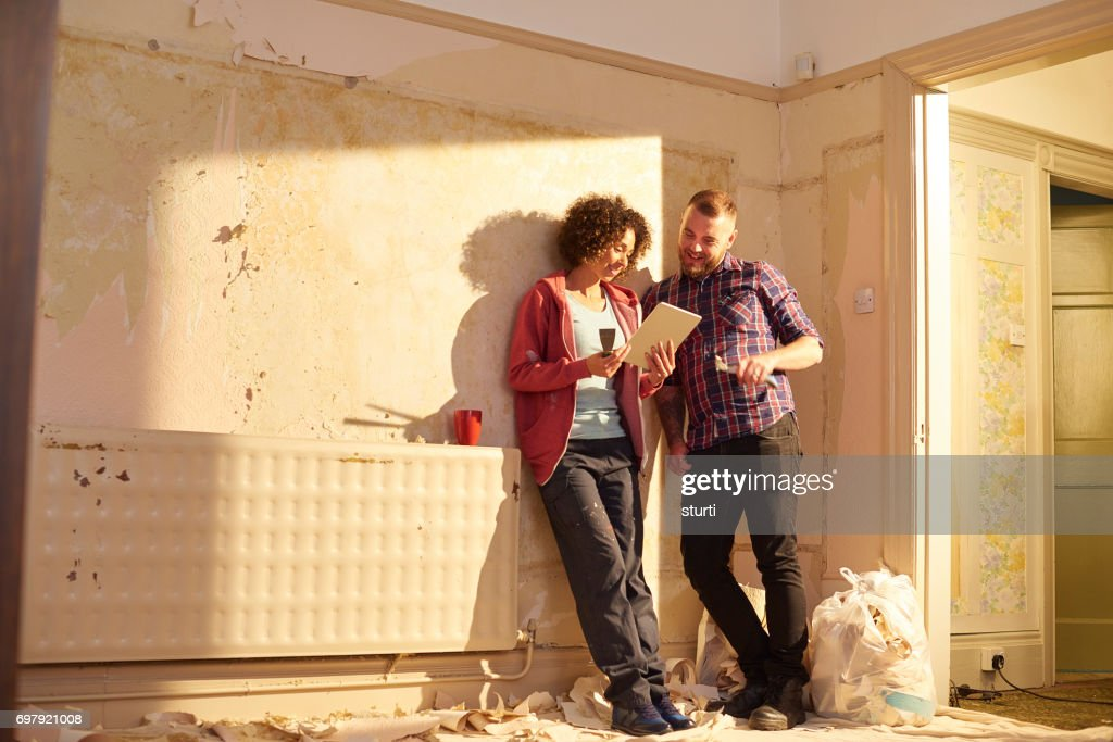 shopping for home renovation : Stock Photo