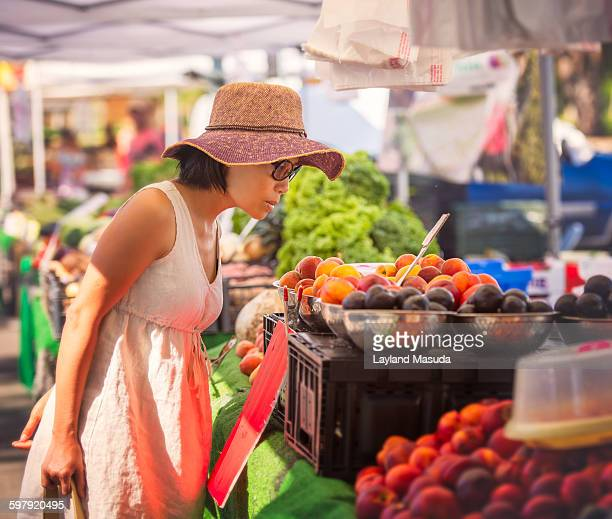 Shopping fresh produce - outdoor market