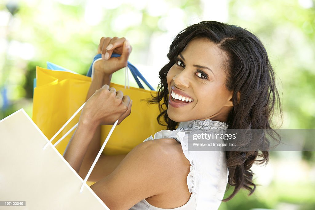 Shopping girl : Stockfoto
