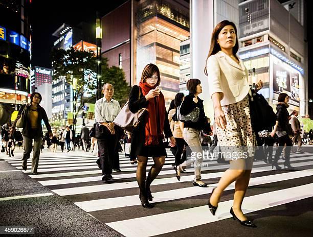 東京、日本の銀座のショッピング