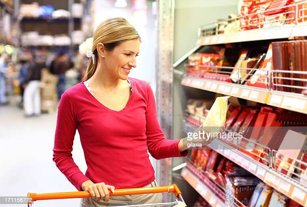 Shopping in supermarket.