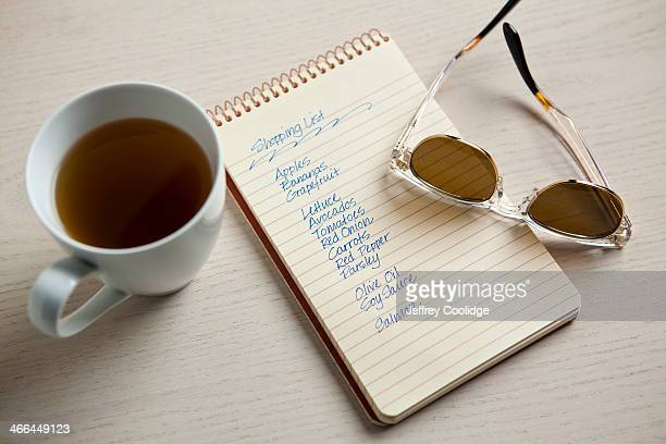 Shopping List With Tea Cup