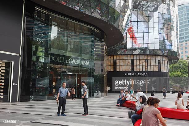 centro de compras en orchard road, singapur - orchard road fotografías e imágenes de stock