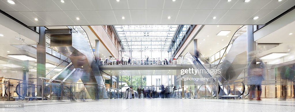 Shopping Mall with Crowd of Shoppers : Stock Photo