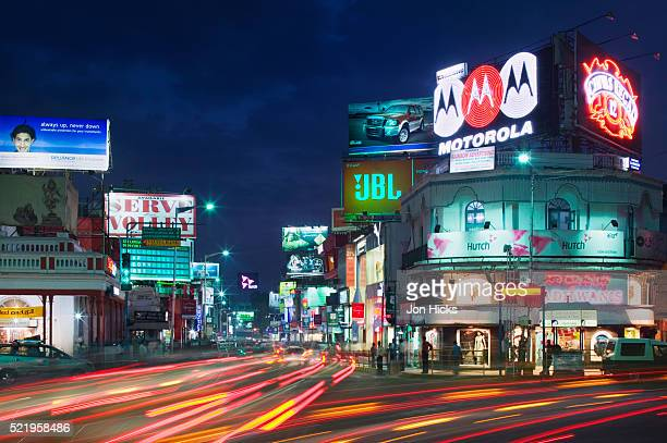 shopping on brigade road - bangalore stock pictures, royalty-free photos & images