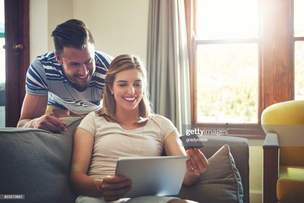 Shopping online is convenient for anyone, anytime : Stock Photo