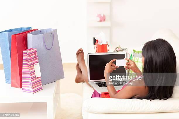 Shopping online.