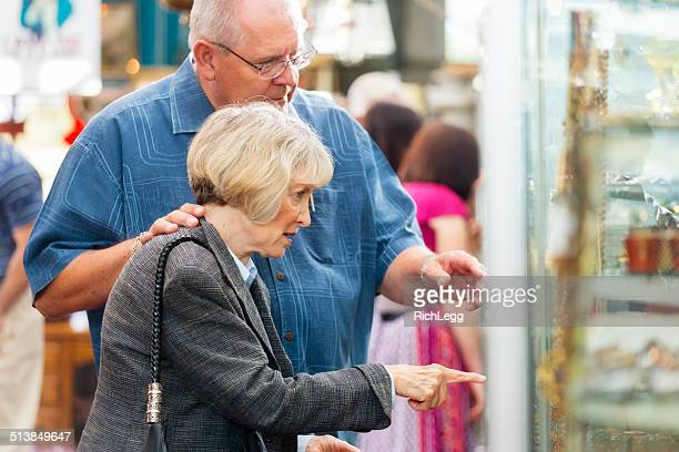 shopping senior couple - rich's_(department_store) stock pictures, royalty-free photos & images