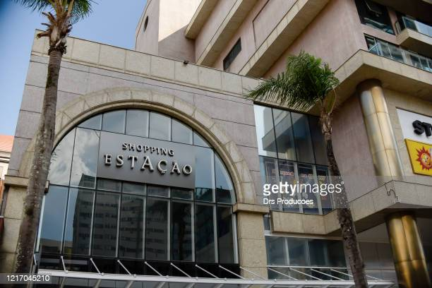 shopping station entrance. (shopping station) - curitiba stock pictures, royalty-free photos & images
